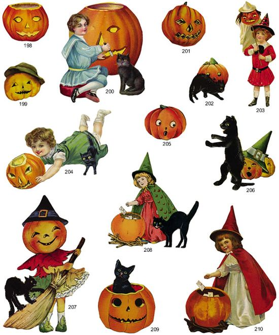 vintage halloween clipart free