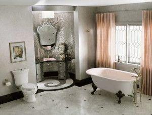 Retro Bathroom Interior
