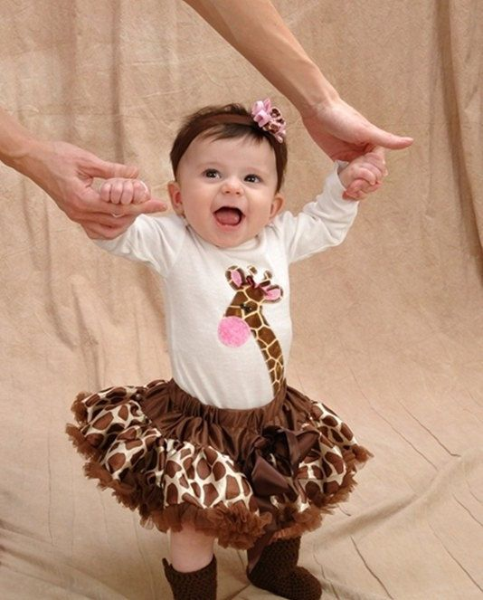 Giraffe ONESIE Baby Girl Made-to-order. $16.75, via Etsy.