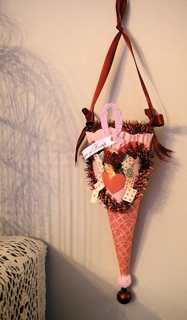 Vintage Valentine Tussie Mussie made by Lisa Kettell