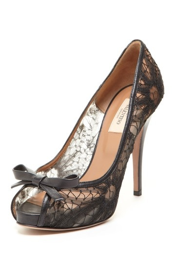 Valentino Lace Bow Pumps