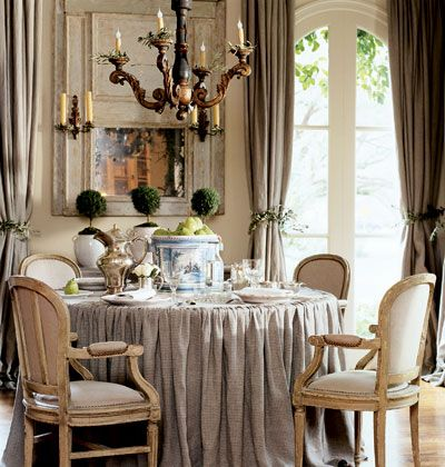 Great french dining room look!