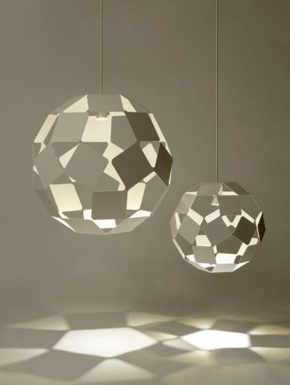 'Dancing Squares' pendant light by Nendo