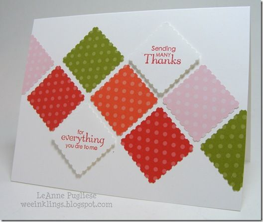 card using square punch