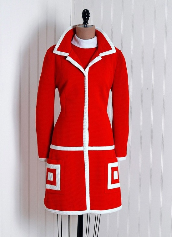 Couture Suit Dress, Lilli-Ann for Red,White & Blue: 1960's.