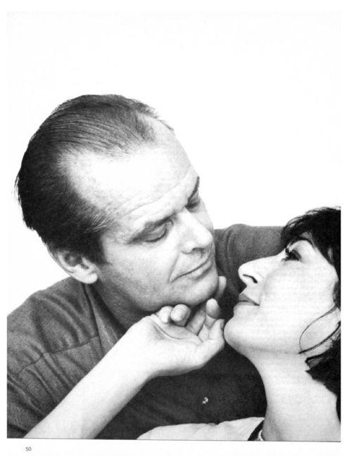 Jack Nicholson with Anjelica Huston.