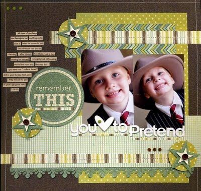 Great scrapbook page layout