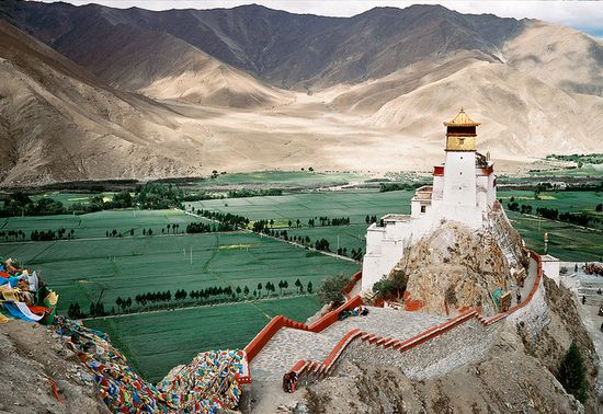 Yumbulhakang, Tibet's First King's Castle, via Flickr.