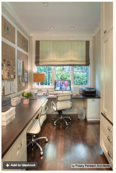 Great Window, Cork Boards & Desk Layout for Home