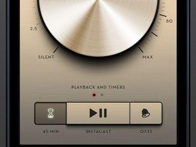 Sleep Radio App #radio #app #apps #application #design #music #player #ui