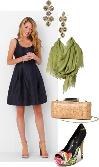 Perfect Spring Party Dress and Accessories