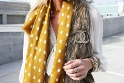 chanel fur & polka dots:)