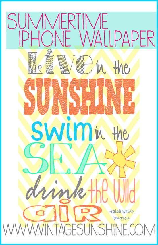 Summertime iPhone Wallpaper #iphone #wallpaper #printable #summertime #phone #summerquotes
