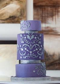 beautiful purple and silver cake