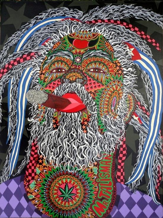 "Saatchi Online Artist: Boris Hernandez; Acrylic, 2011, Painting ""MR. TALISMAN"""