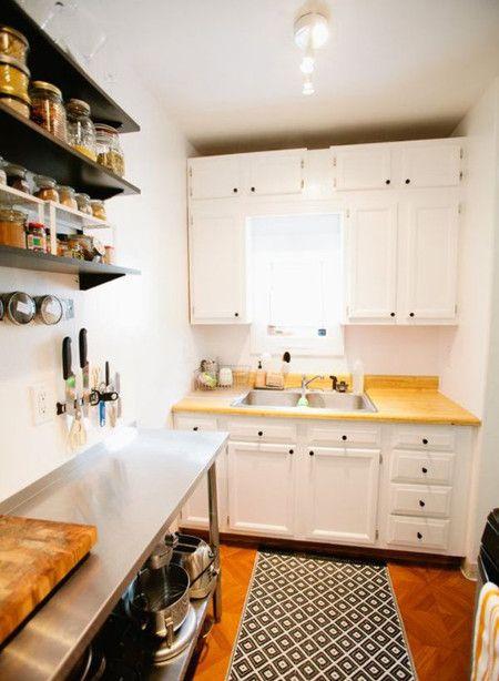 Small White Kitchen Interior Design Ideas - Kitchen