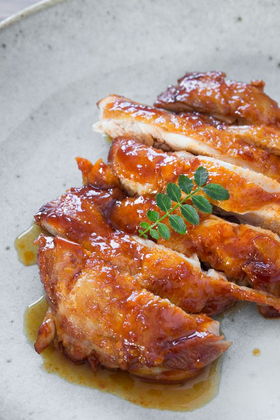 Spicy Crispy Chicken Without Spattering Grease by Marc Matsumoto, pbs: The trick to getting the skin crispy is to throw the chicken into a cold pan with no oil, and then slowly raise the temperature, coaxing most of the oil out of the skin. #Chicken #Healthy