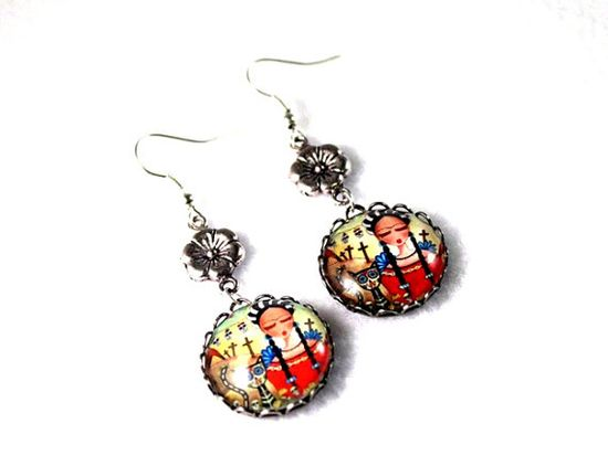 Frida Earrings by Mary Ann Farley, $22.00