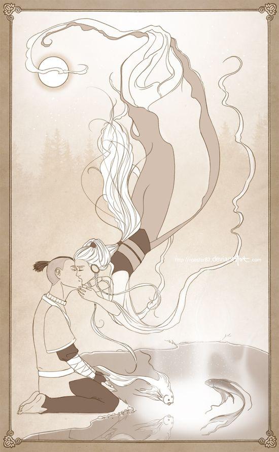 Sokka and Yue - Avatar