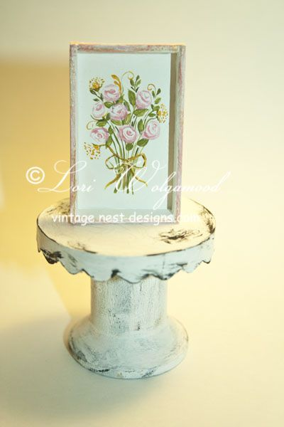 Roses Painting No.10 in a Wooden Frame Box Tray Handmade - Vintage Nest Designs, Creative Handmade and Hand Painted Designs