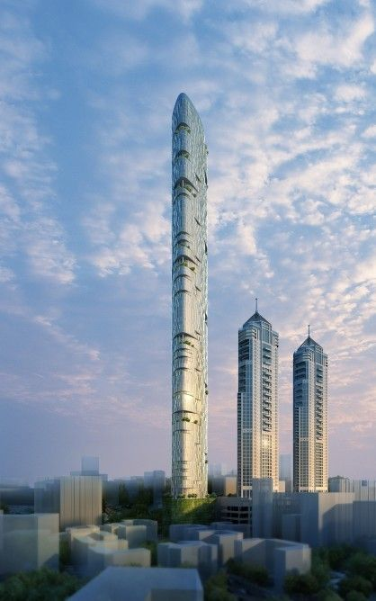 Adrian Smith and Gordon Gill Architecture Unveils Proposal for Mumbai's Tallest Tower  #architecture ?k?