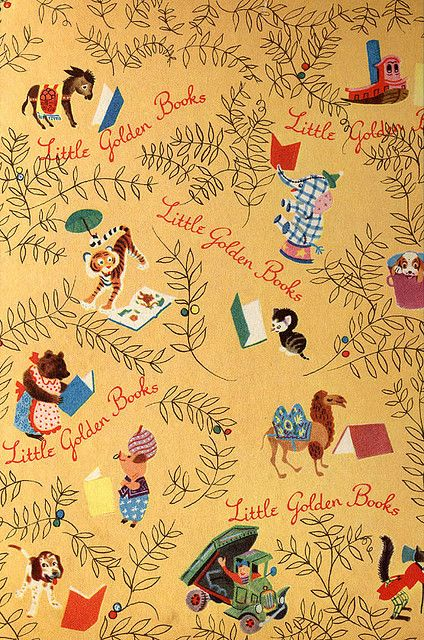 Interior board of a Little Golden Book. (This one is circa 1955, but they were much the same in the 1960s.)