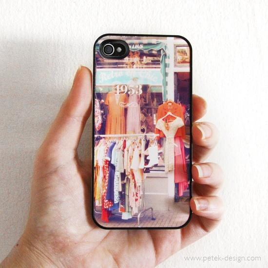 25%OFF Sale: iPhone 4 / 4s Case. Shabby Vintage fashion shop. Unique Accessory. Colorful Vintage inspire photo, orange peach green. $19.50, via Etsy.