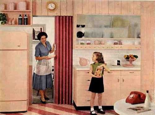 1950s Kitchen. Those colors that were so bright.