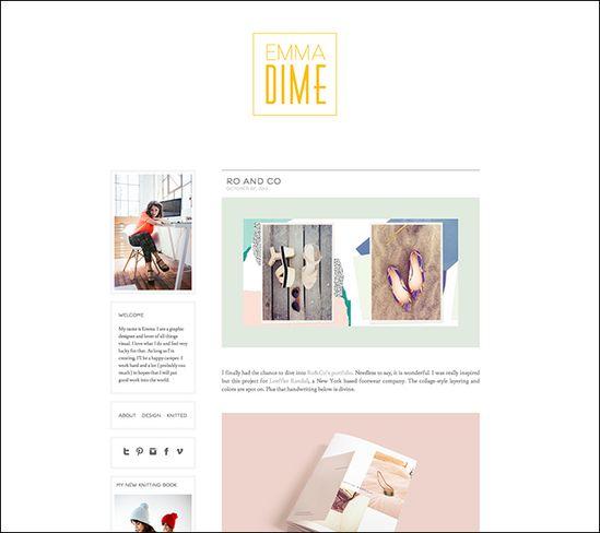 Inspiring Graphic Design Blogs: Emmadime
