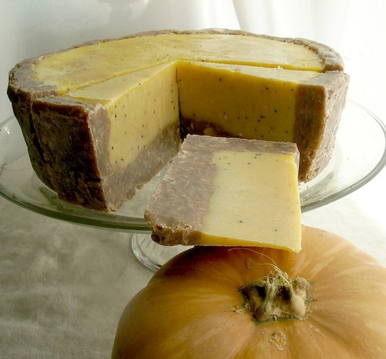 Pumpkin Pie Handmade Soap - Vegan Soap - Natural Handmade Soap - Exfoliating Soap - Thanksgiving. $5.00, via Etsy.