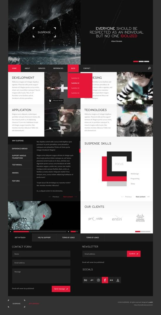 #Dynamic grid style #web design that has some lovely navigational touches