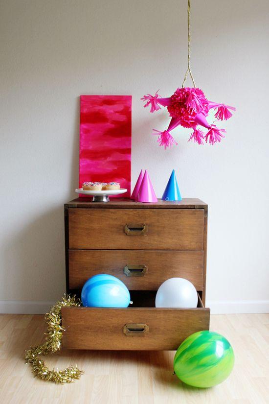 DIY Pink Party Hat Pinata