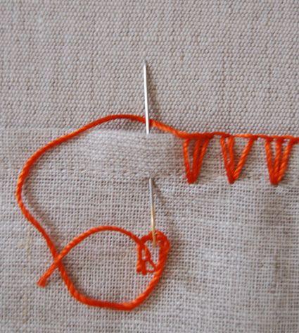 chevron stitch how to.