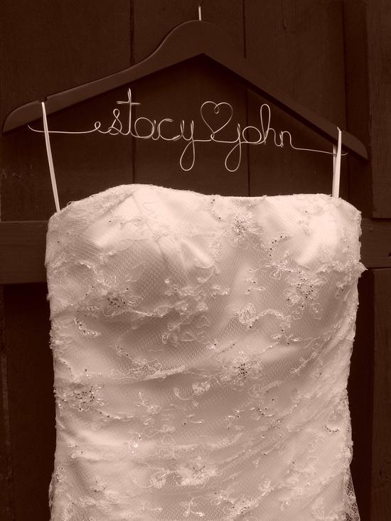 Personalized Wedding Hanger, Bridal Wedding Hanger, Wedding Gift, Bridesmaid Gift, Bridal Hanger, Wedding Gift, Gift Wrap Included. $16.99, via Etsy.