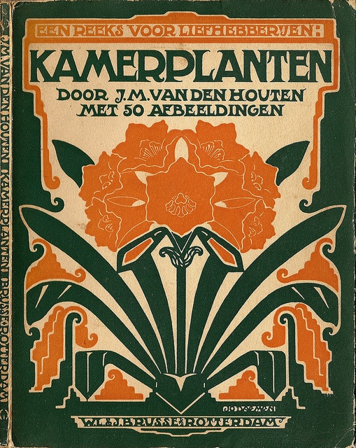 cover design Einband Entwurf: Jo Daemen 1891 - 1944. J.M.van Houten KAMERPLANTEN 1929. (book cover)