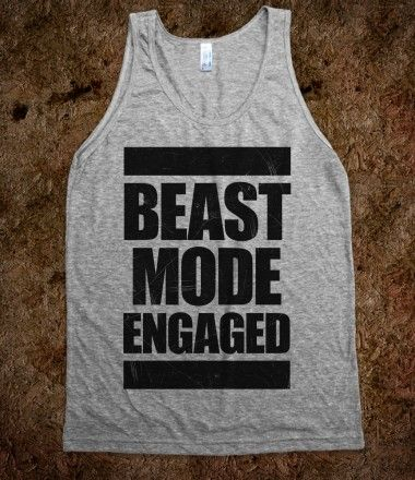 #beast #mode #vintage #workout #exercise #fitness #tank Beast Mode Engaged