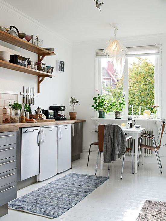 Swedish Duplex #interior #design #architecture #apartment #kitchen #whitewalls #whitefloors #dreamhouse #howtodecorate