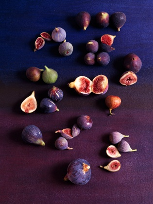 figs on purple, by maria robledo