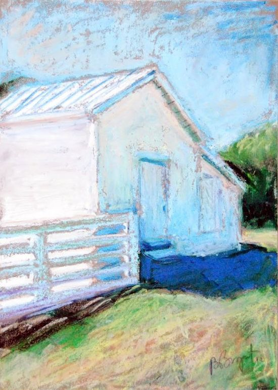 NC Barn Painting  5 x 7 Original Oil Pastel on by BethanyBryant, $45.00