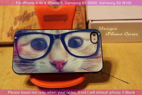 Shades Cool Kitty - iPhone 4 / iPhone 4S / iPhone 5 / Samsung S2 / Samsung S3 / Samsung S4 Case Cover