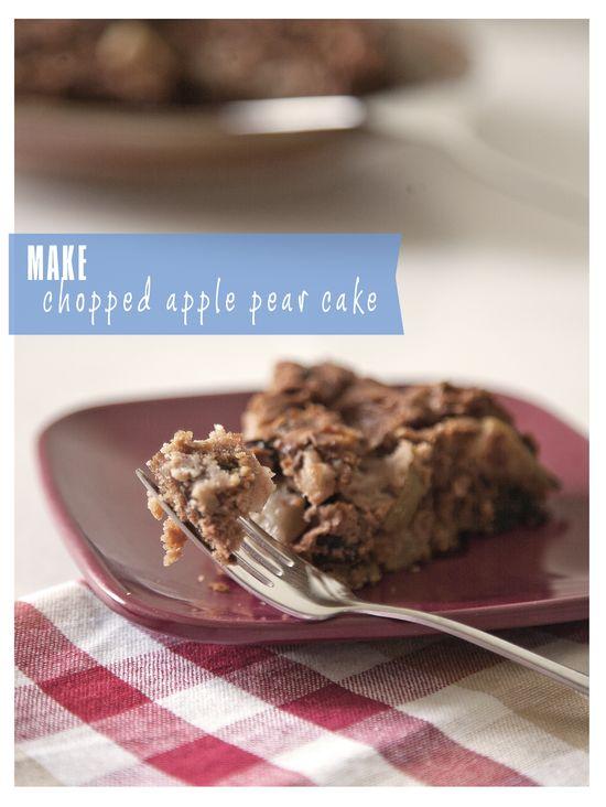Chopped Apple Pear Cake Recipe
