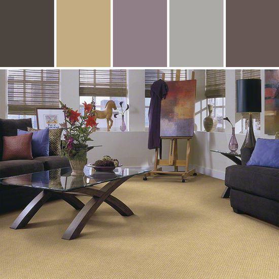 Summer Splash Carpet Living Room Designed By Shaw Floors via Stylyze