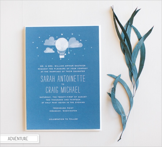 adventure wedding invites