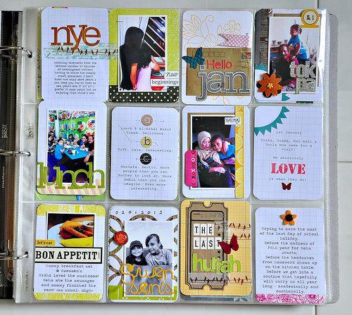scrappy journal card ideas