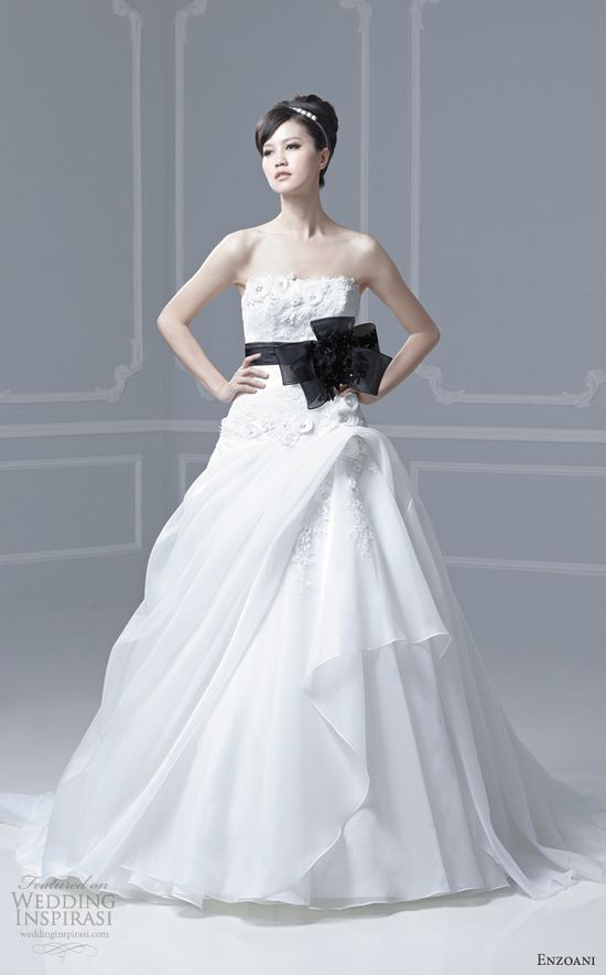 blue by enzoani wedding dresses 2013 freya ball gown black sash