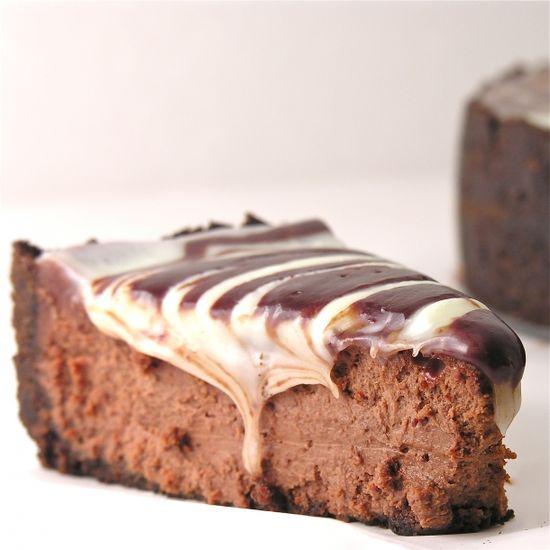 triple chocolate cheesecake.