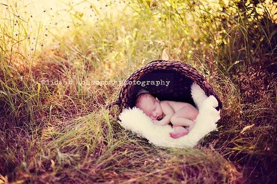 nature newborn shot