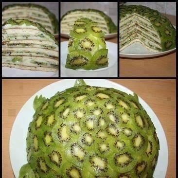 Kiwi Turtle Fruit Cake