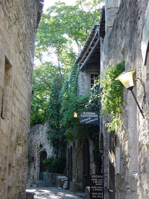 Street in Les Baux, France  by lizzie424, via Flickr