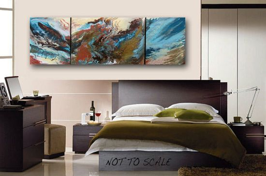 Original Abstract Painting Huge Sofa Size by heatherdaypaintings, $580.00